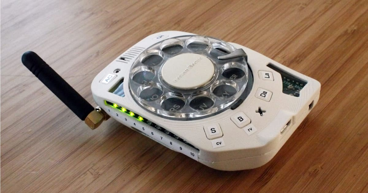 You can make your own rotary cellphone
