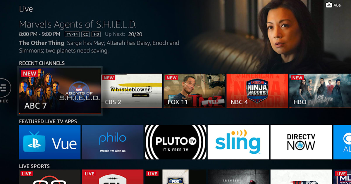 Amazon gives Fire TV devices a section devoted to live television 1