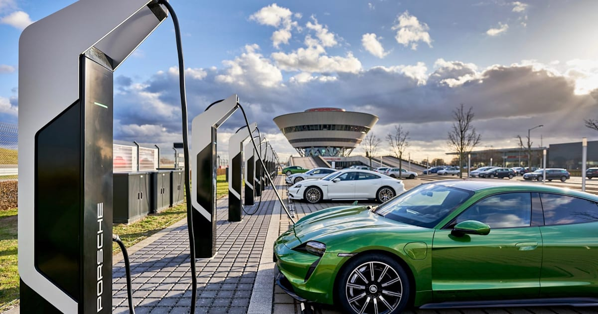 Porsche opens Europe's most powerful EV charging park