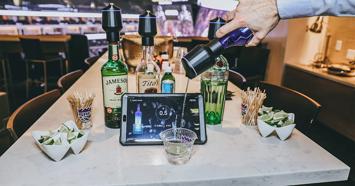 Sacramento Kings guests can use 'smart' bottles to pour their own drinks 1