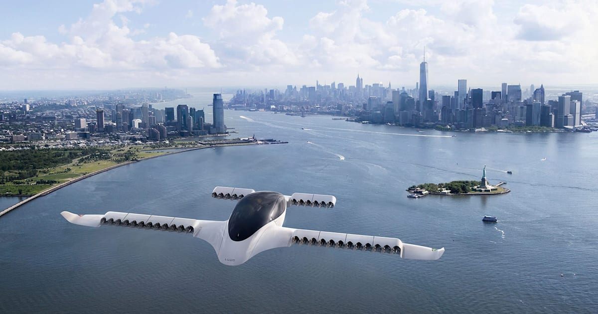 Lilium's latest flying taxi prototype can at least hover