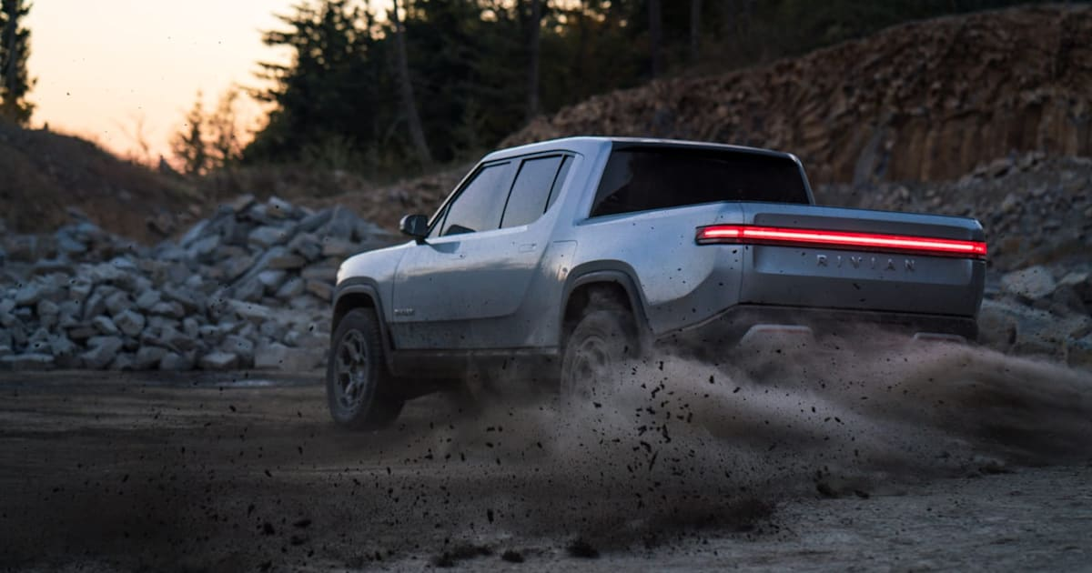 Rivian's electric trucks can charge each other 1