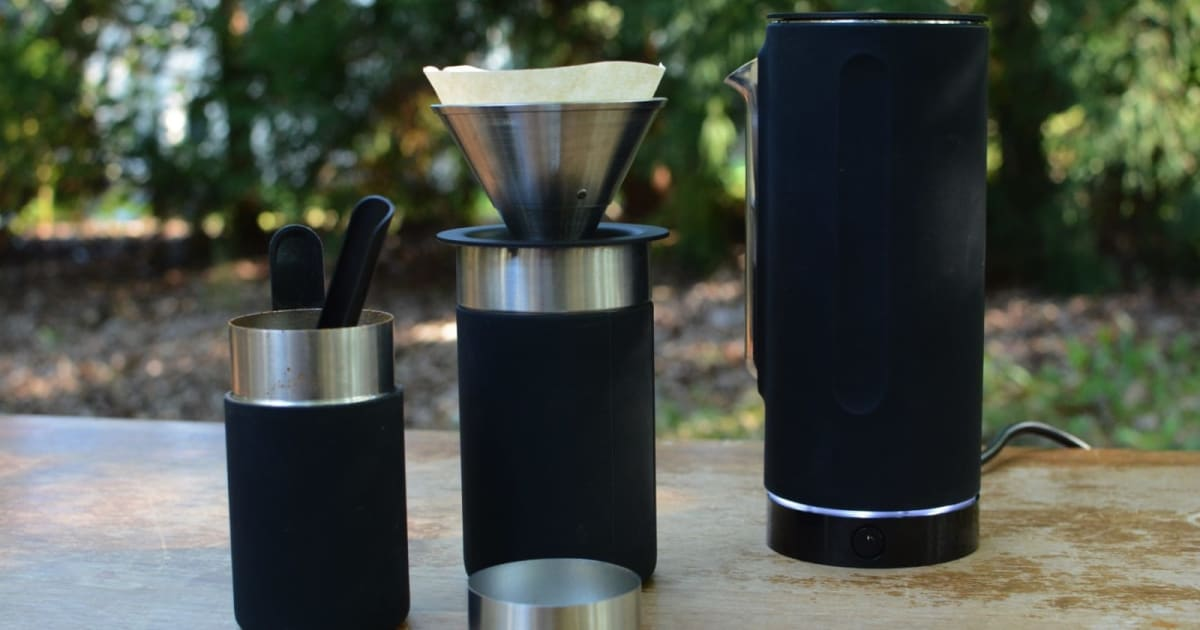 The Pakt Coffee Kit is a nearly perfect pour-over solution for travel