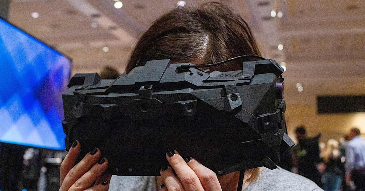 This massive 8K VR headset was built for NASA