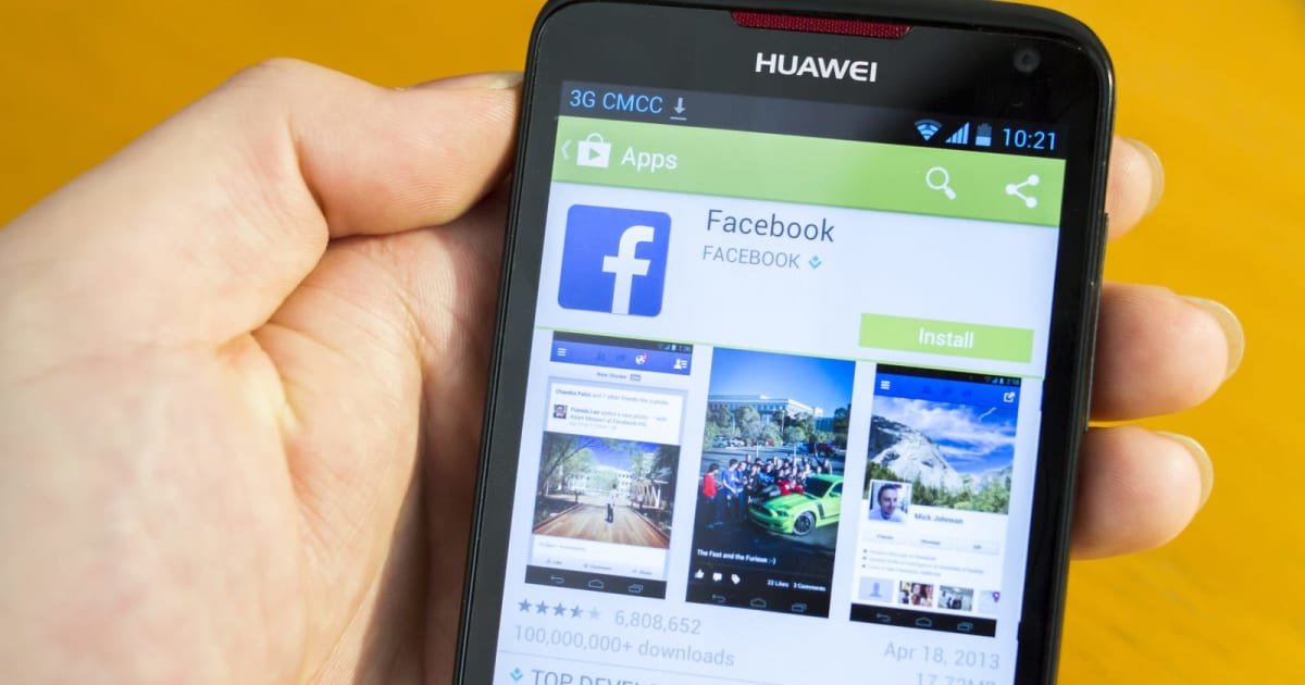 Facebook's on-device data sharing program included Huawei, Lenovo