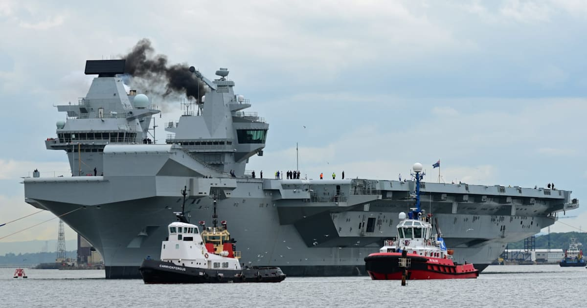 A drone landed on Britain's biggest warship and nobody ...