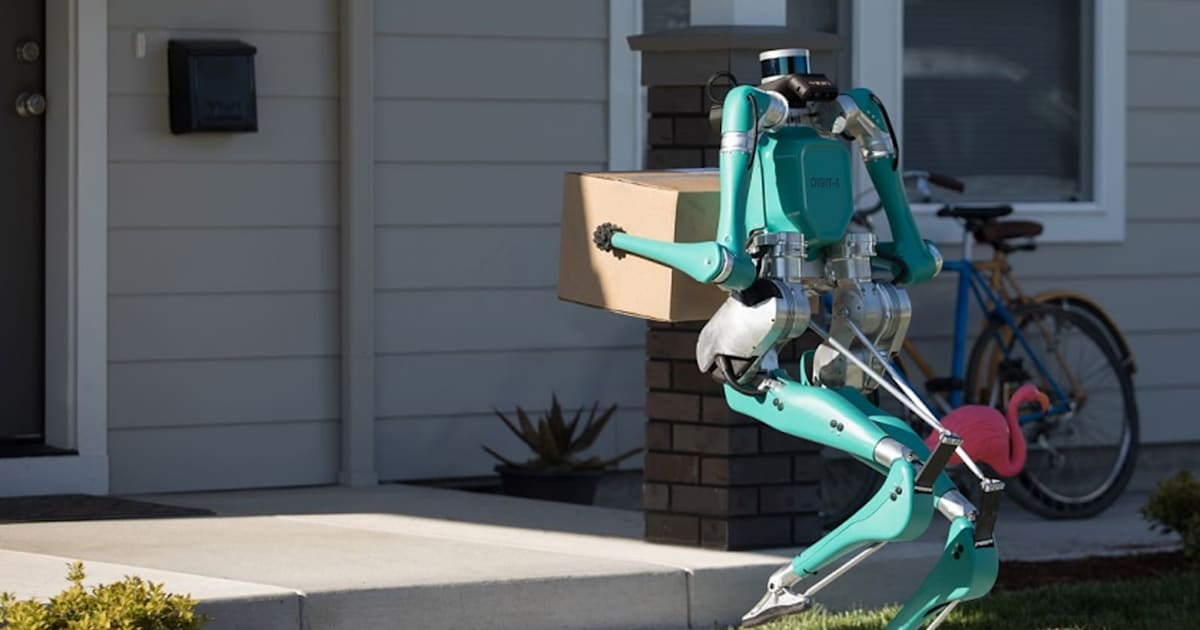 Ford wants this creepy robot to bring its autonomous deliveries to your door