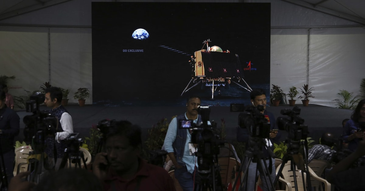 India's Vikram lunar lander lost contact during its descent