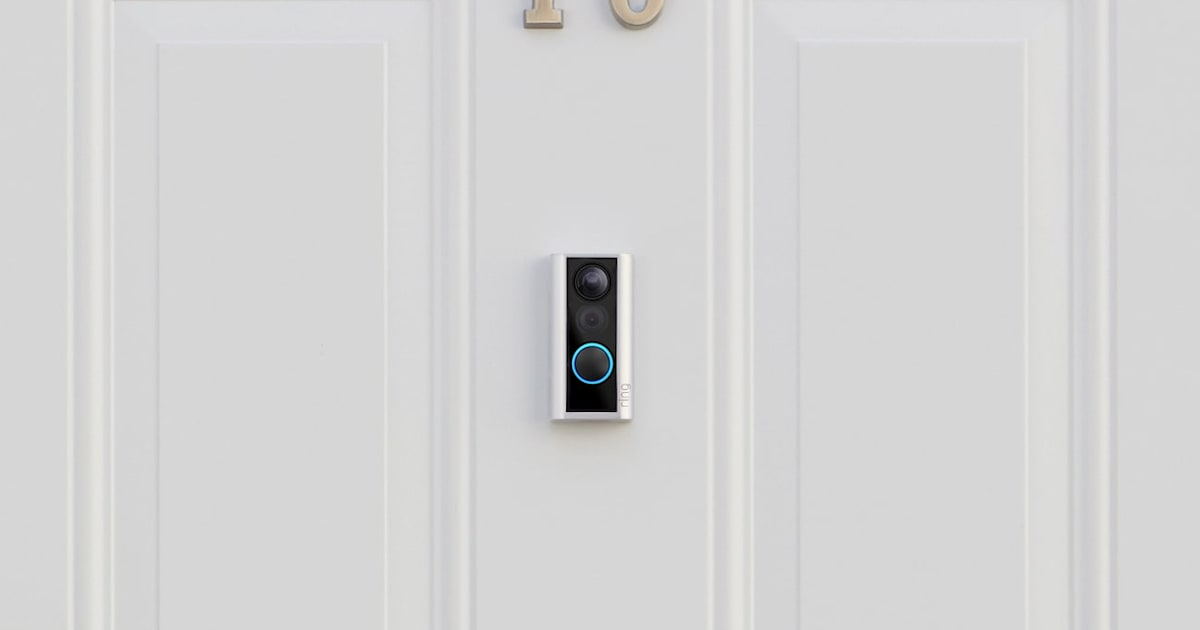 Ring's newest doorbell sits over your door's peephole