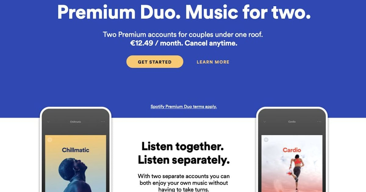 Spotify is testing a cheaper Premium subscription for two people