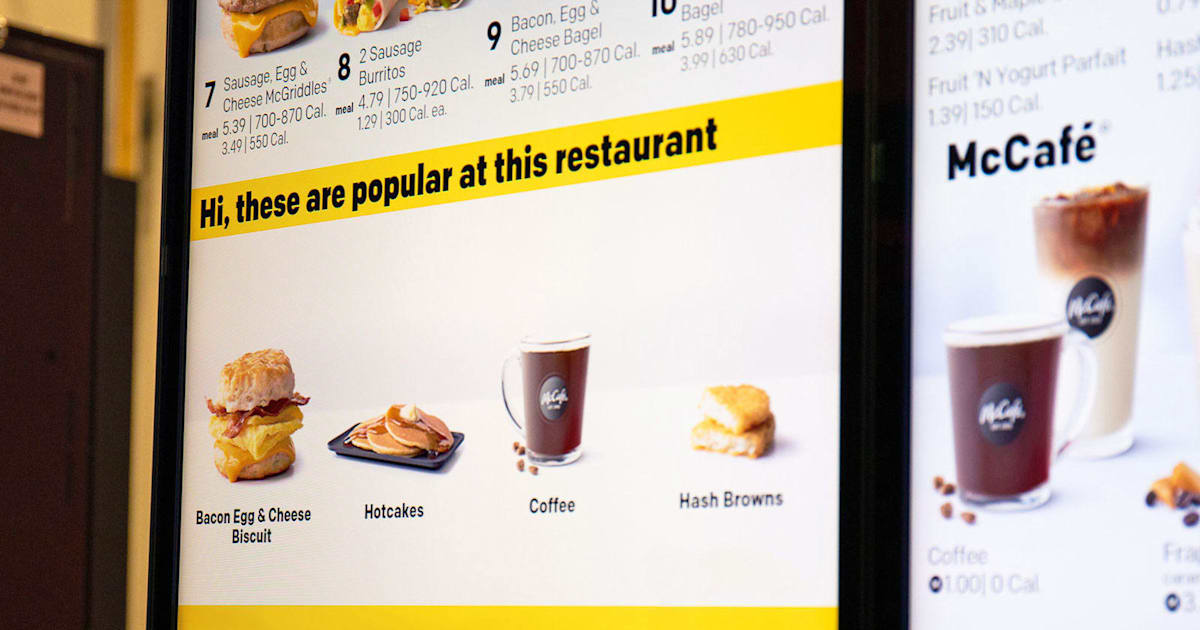 QnA VBage McDonald's will use AI to automatically tweak drive-thru menus