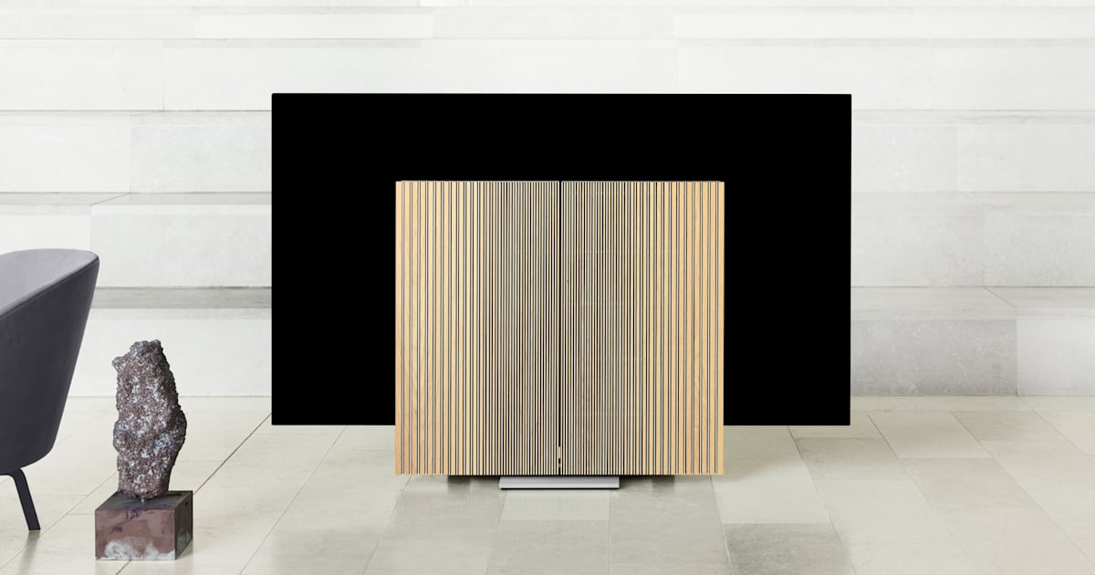 Bang and Olufsen's Gorgeous OLED TV has 'Wing' Speakers that Fold Out