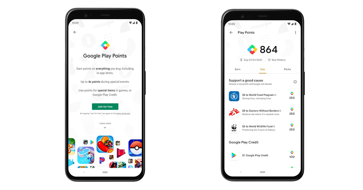 Google's Play Points program rewards you for downloading apps