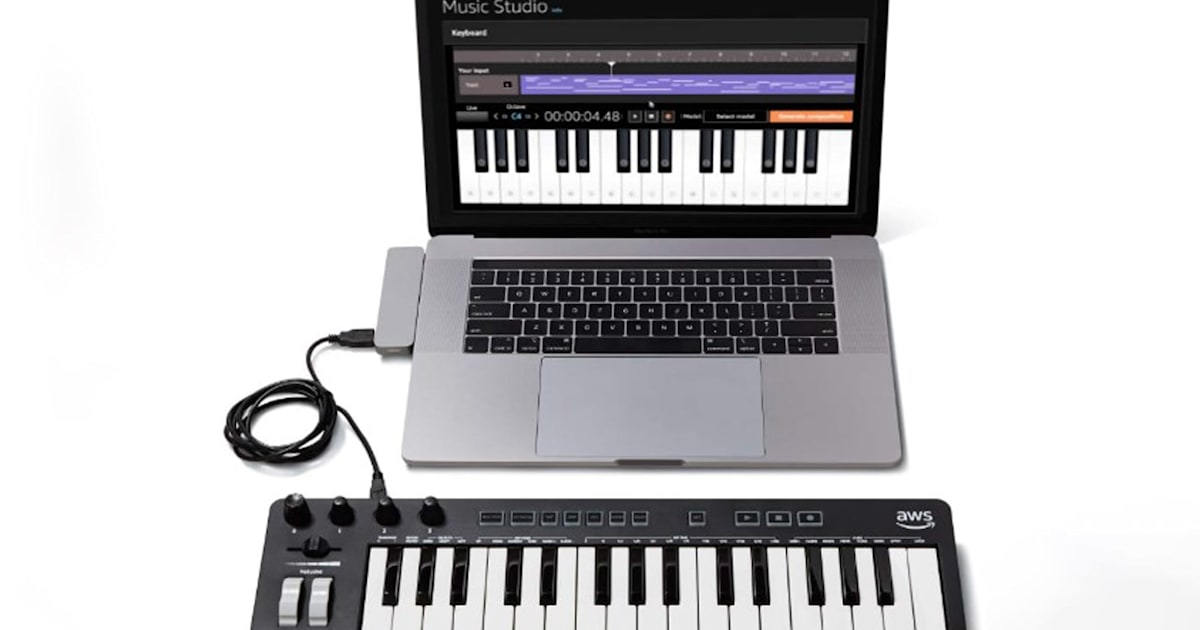 Amazon created a musical keyboard to help developers learn about AI