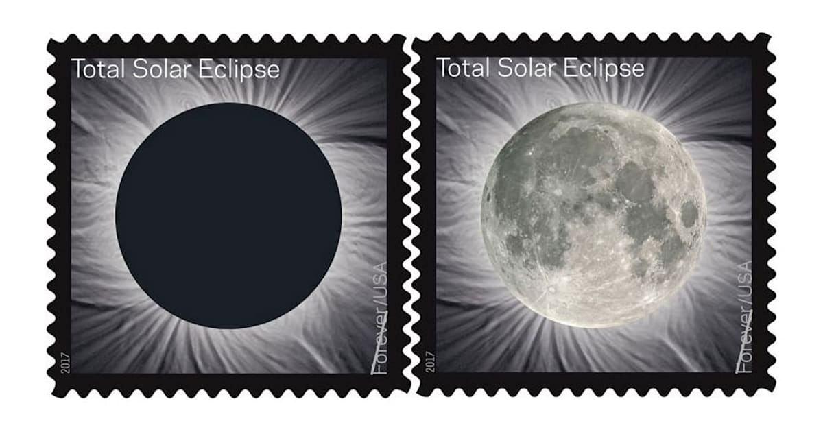 USPS Solar Eclipse Stamps Use Body Heat to Reveal the Moon
