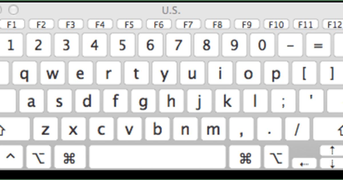 Mac 101 Using The Keyboard Viewer In Os X Mavericks