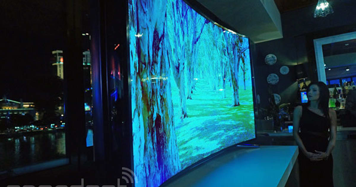 samsung 39 s 105 inch curved uhd tv and 85 inch bendable screen hit retail this year. Black Bedroom Furniture Sets. Home Design Ideas