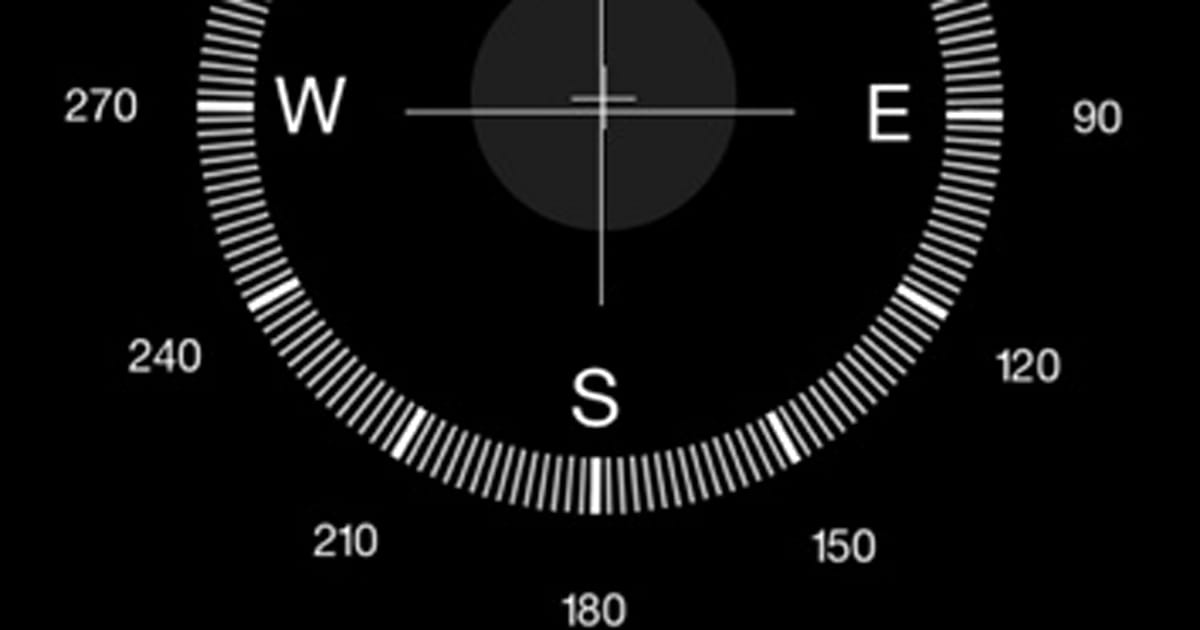 How to use the iOS Compass for basic land navigation