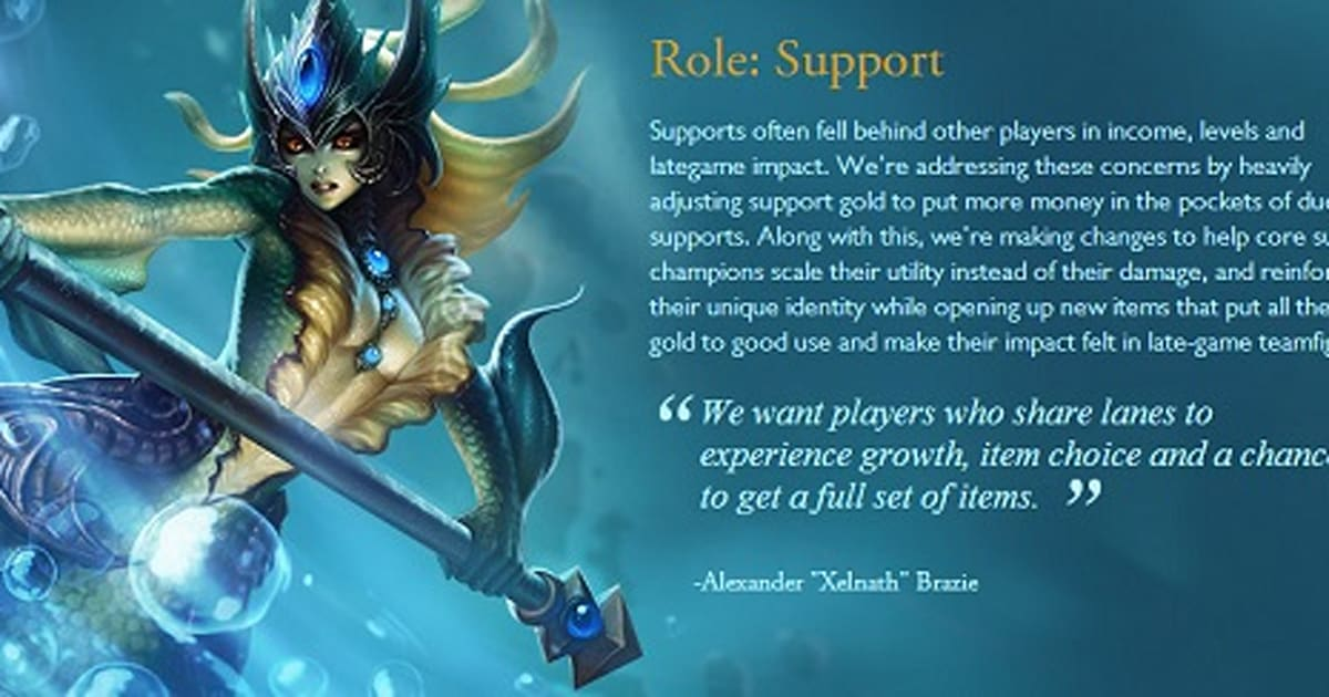 The Summoner's Guidebook: When in LoL history has support