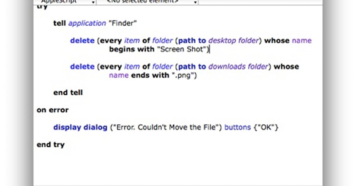 Friday Favorite: Use AppleScript to delete files from a folder