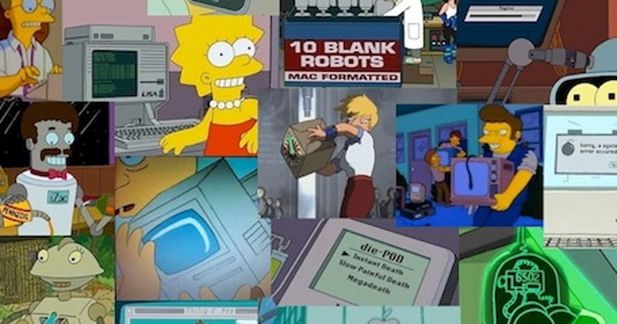Every Apple reference ever made in Futurama and The Simpsons