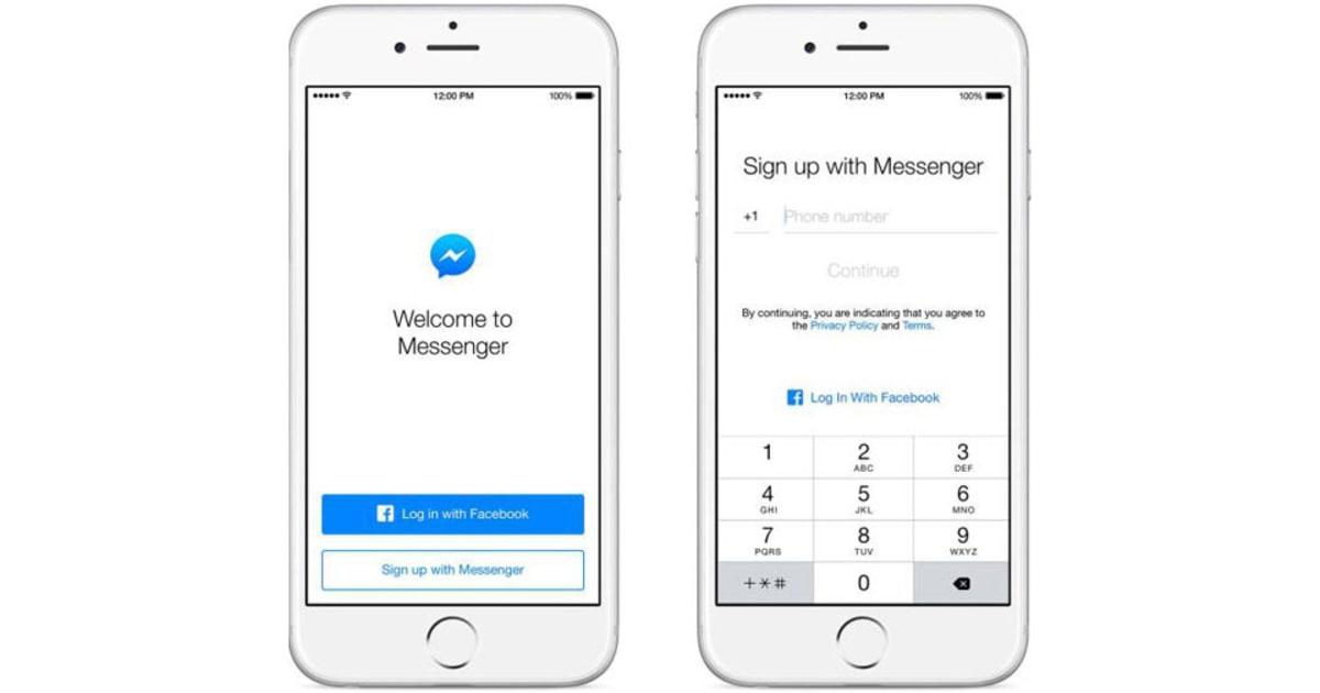 Facebook Messenger no longer needs a Facebook account