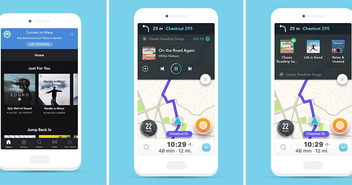 Spotify streams inside Waze on iOS to reduce driving distractions