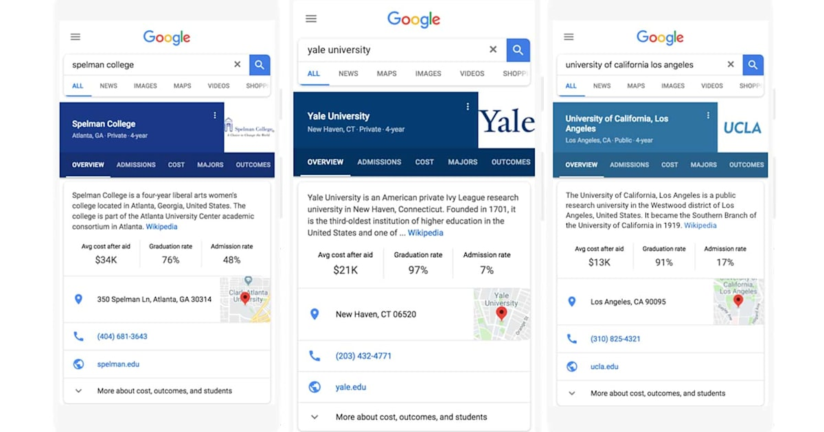 Google Search Makes it Easier to Find your Dream College