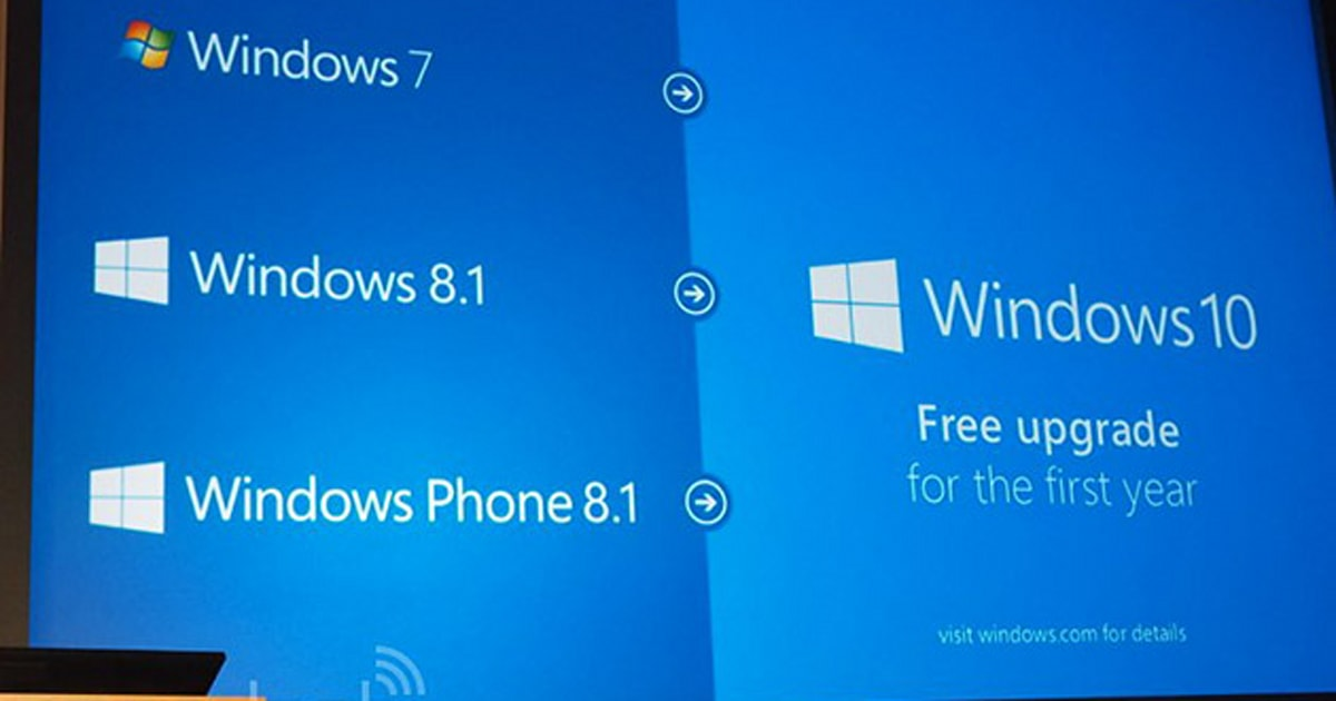 windows 7 free upgrade to windows 10