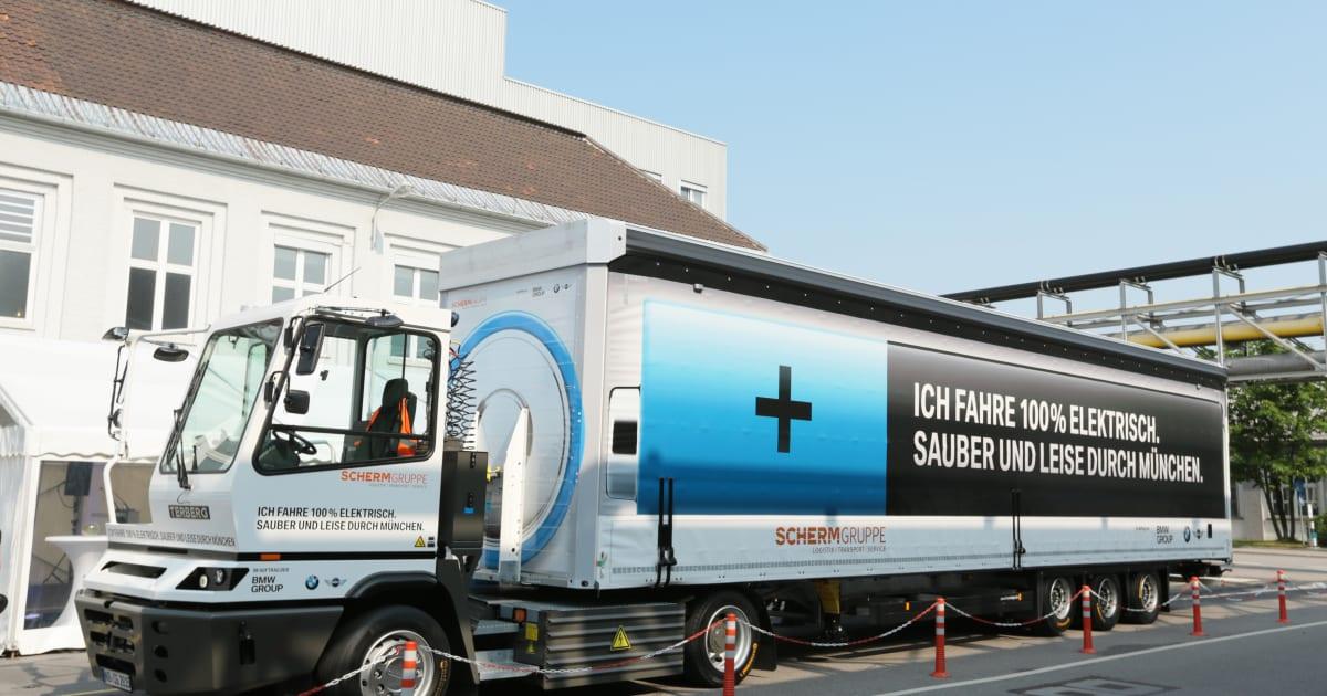Europa-Premiere: BMW nutzt elektrischen 40-Tonner