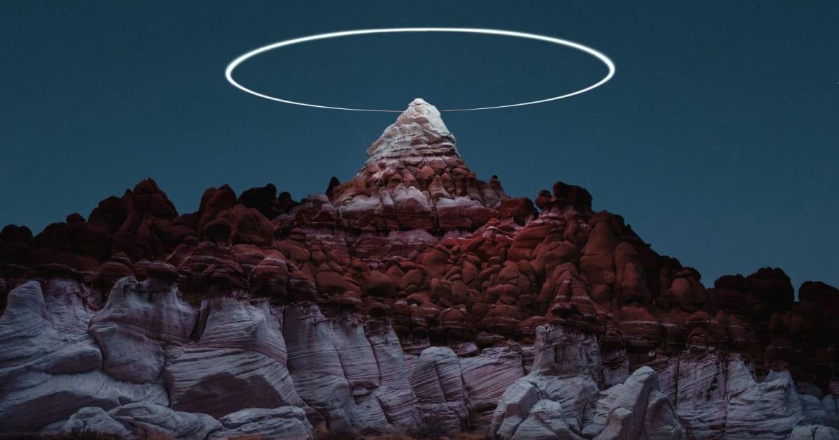 Drones add eerie halos to landscape photos in 'Lux Noctis'
