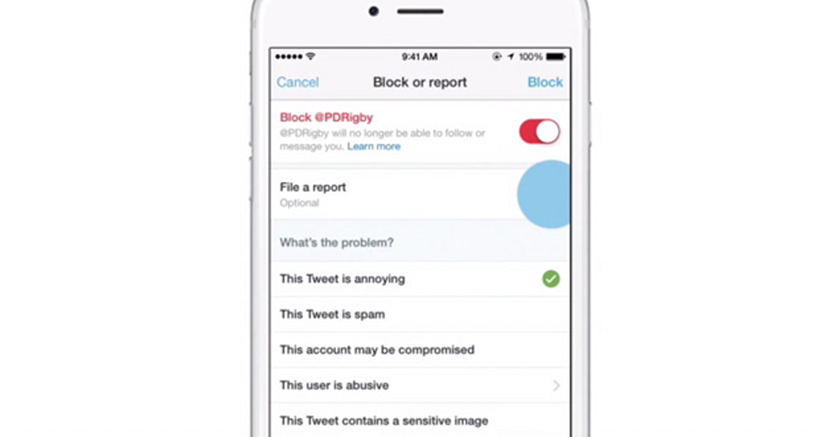 Twitter makes it easier to report abusive tweets