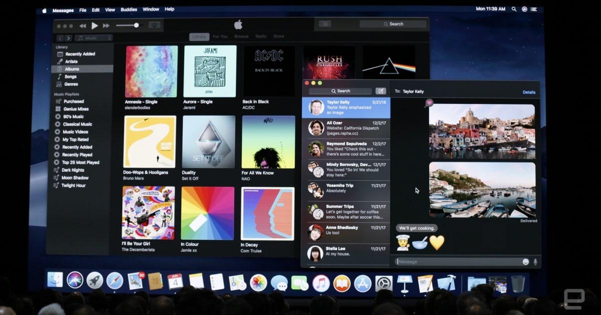 macOS Mojave's dark mode makes late-night computing less painful