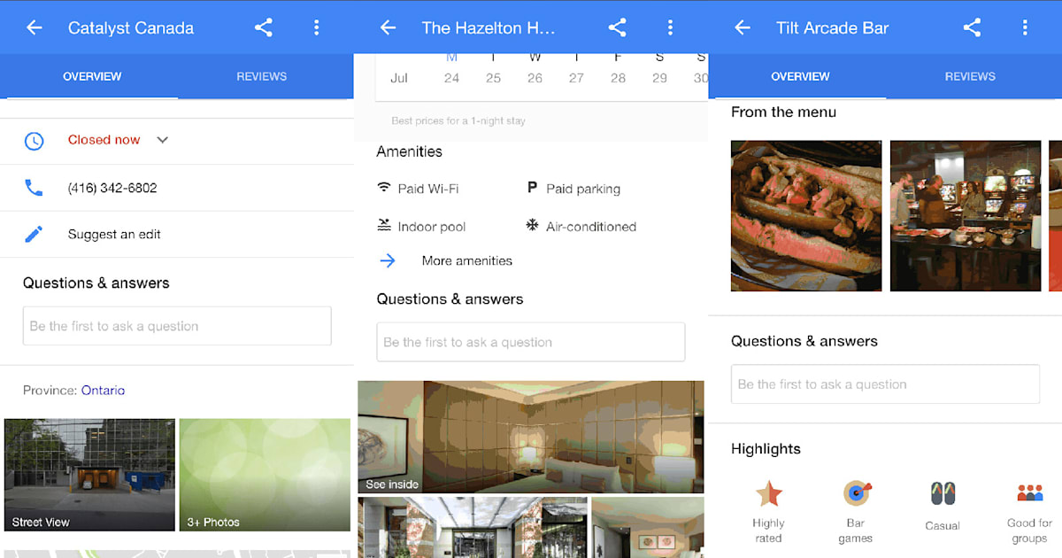 Google Tests Amazon-like Q&A Section for Local Businesses