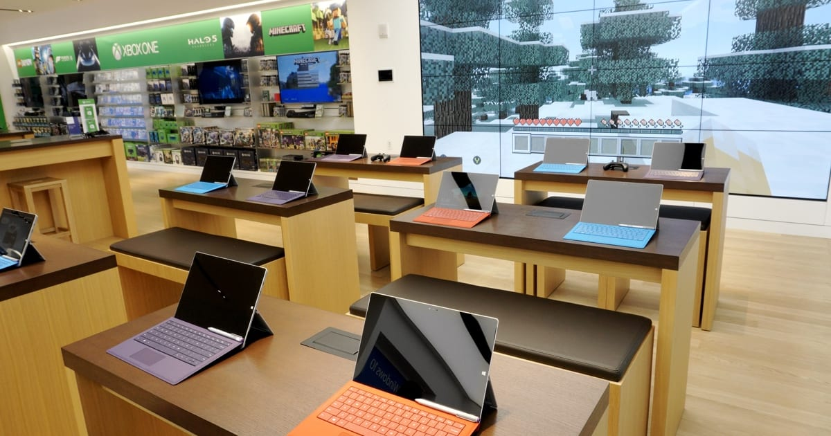 microsoft store christmas take a tour of microsofts new fifth avenue flagship store