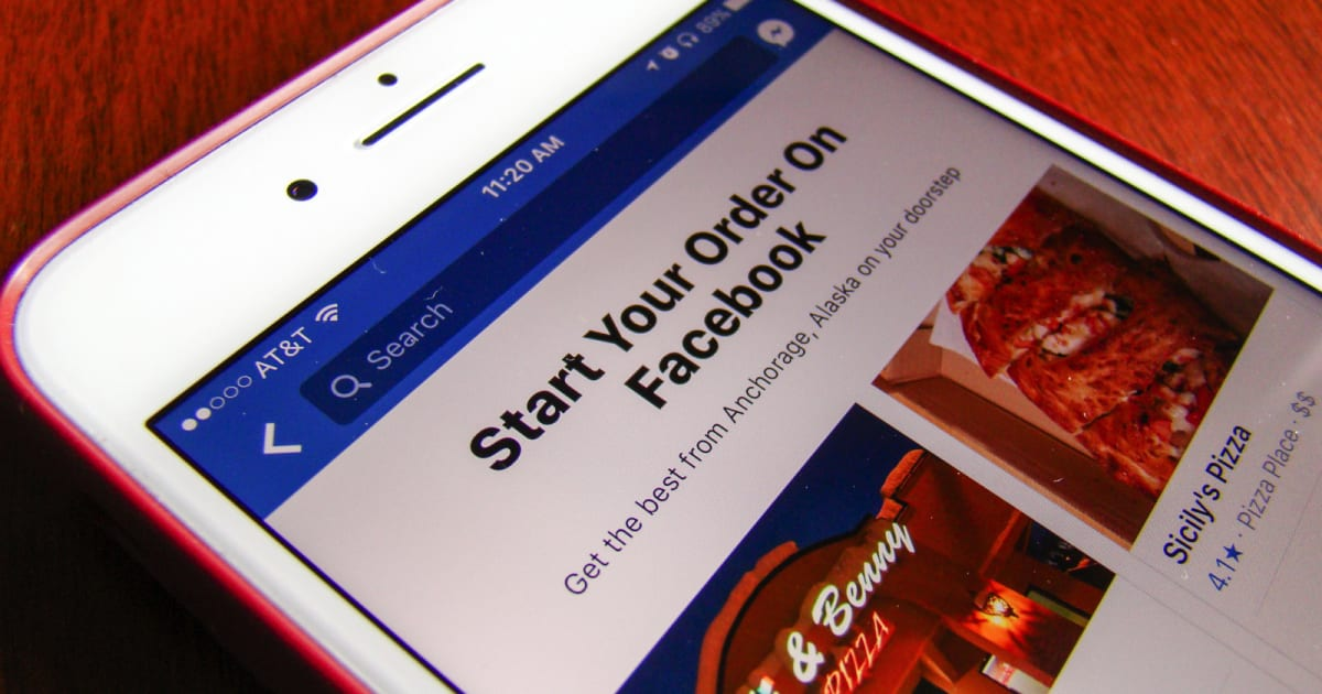 Facebook adds food ordering so you never have to leave