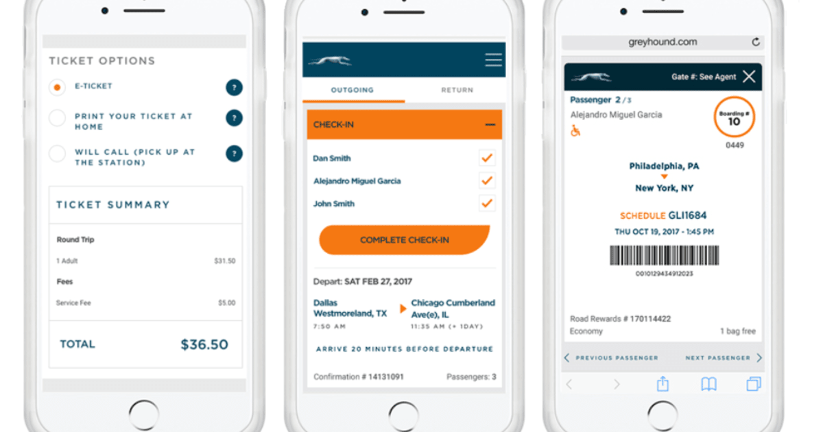Greyhound Joins the Modern Era with E-tickets on iPhones