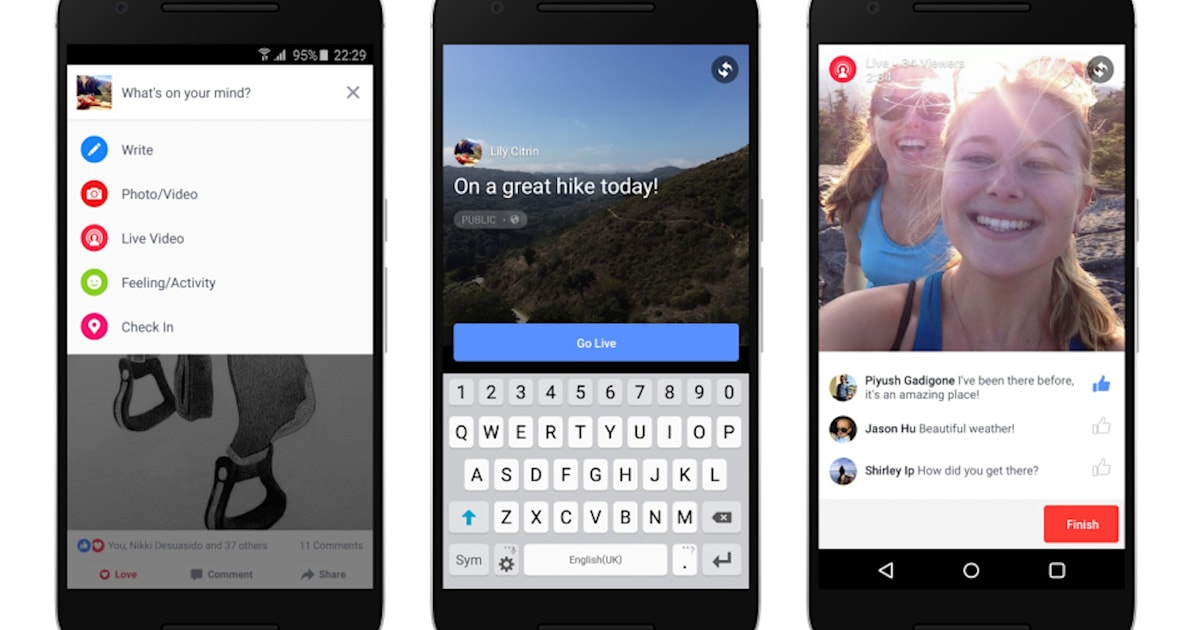 Facebook Live Video comes to Android