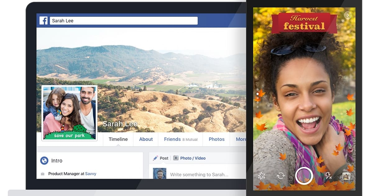 Facebook now lets you create your own frame for photos and