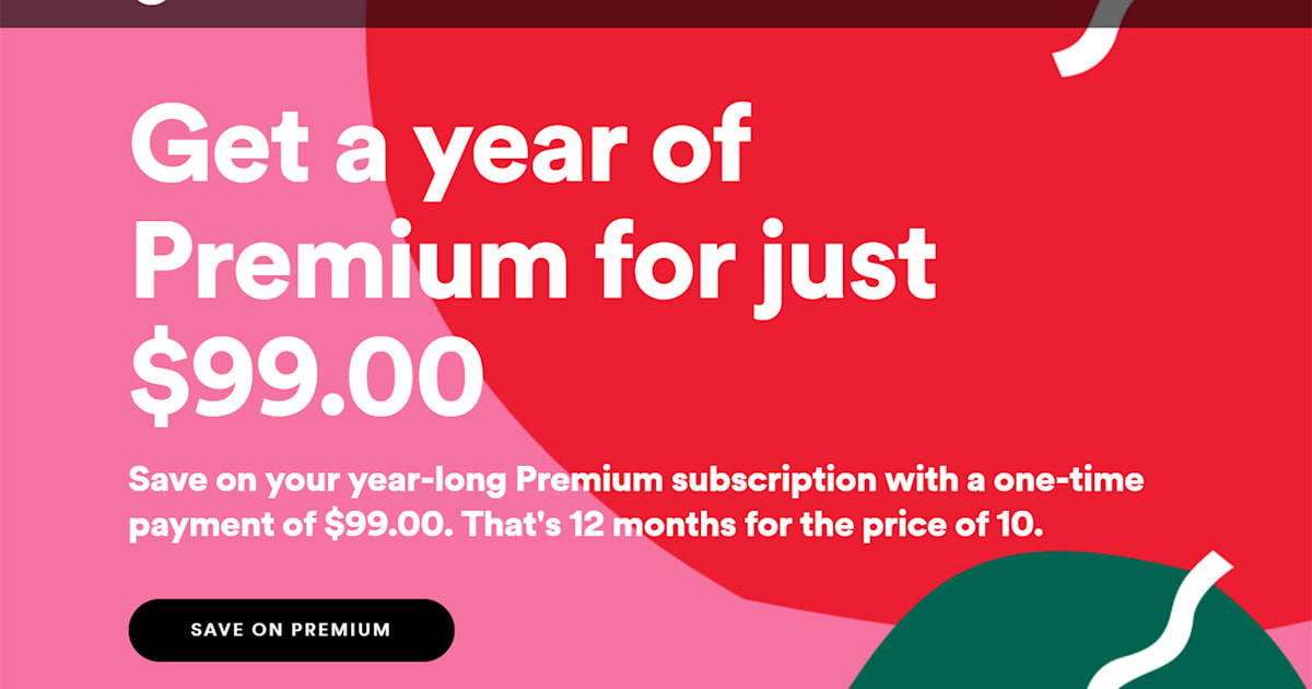 spotify offers a year of premium streaming for 99. Black Bedroom Furniture Sets. Home Design Ideas
