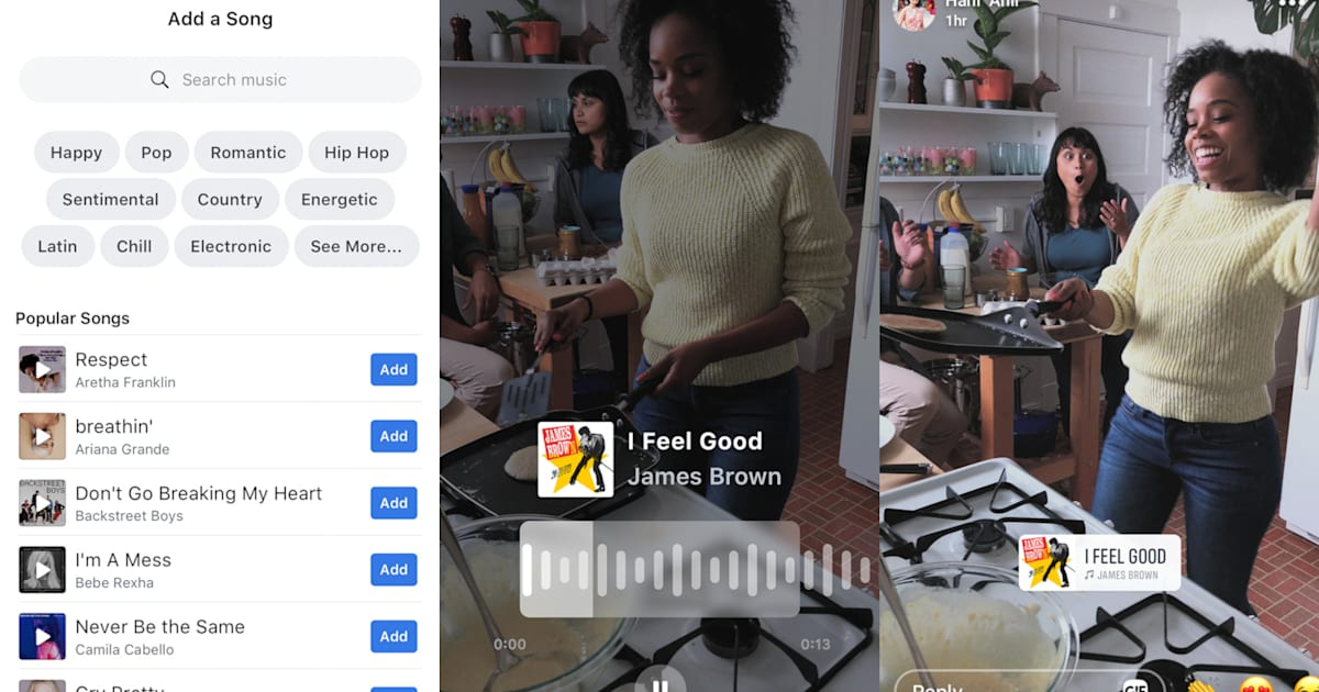 Facebook Test Lets Users Add Songs to Photos and Videos