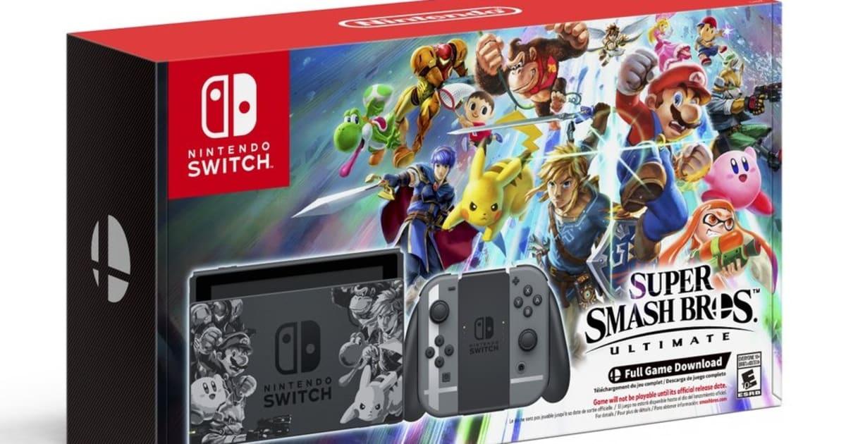 Switch 'Super Smash Bros  Ultimate' set bundles system and