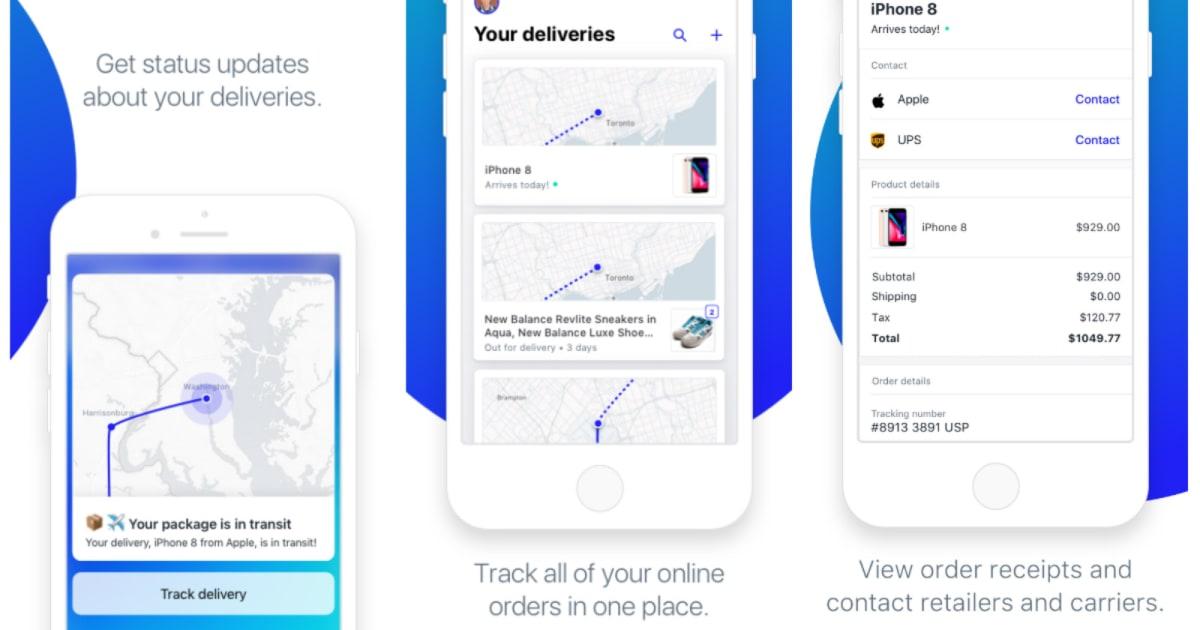 shopify s arrive app tracks your online orders on a live map. Black Bedroom Furniture Sets. Home Design Ideas