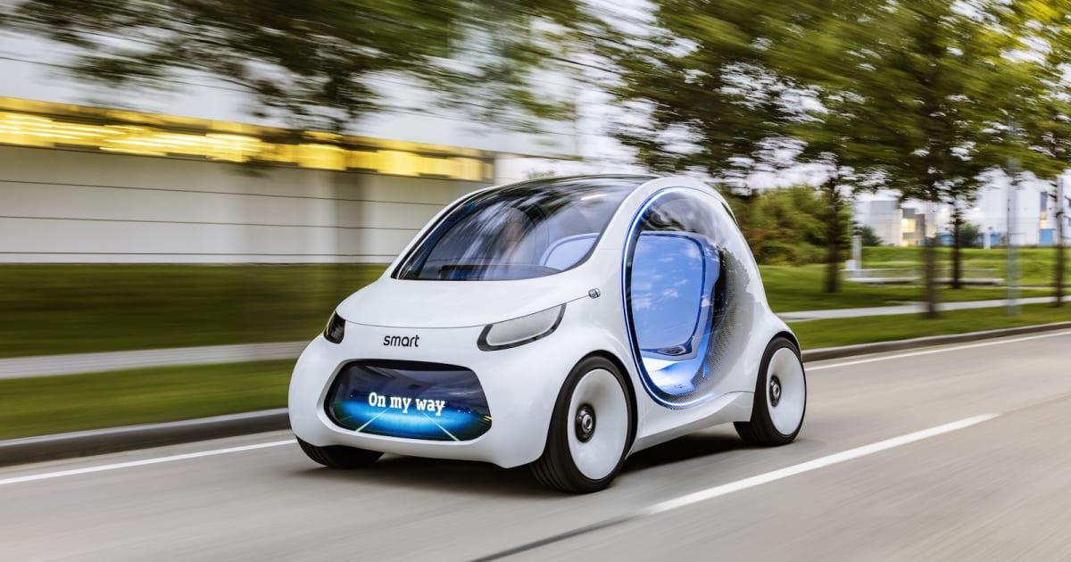 Tesla Self Driving Car Sees