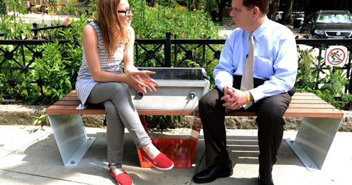 Boston Turns Park Benches Into Solar Powered Charging Points