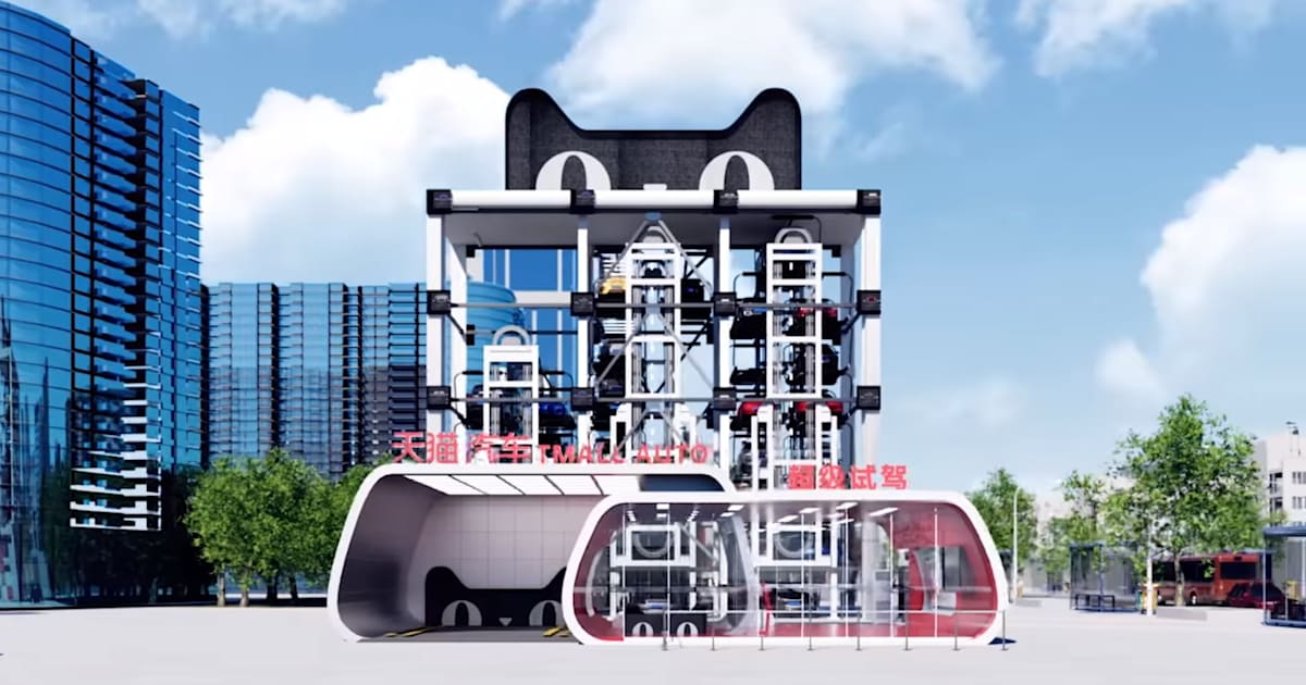 Alibaba will sell cars with a vehicle vending machine
