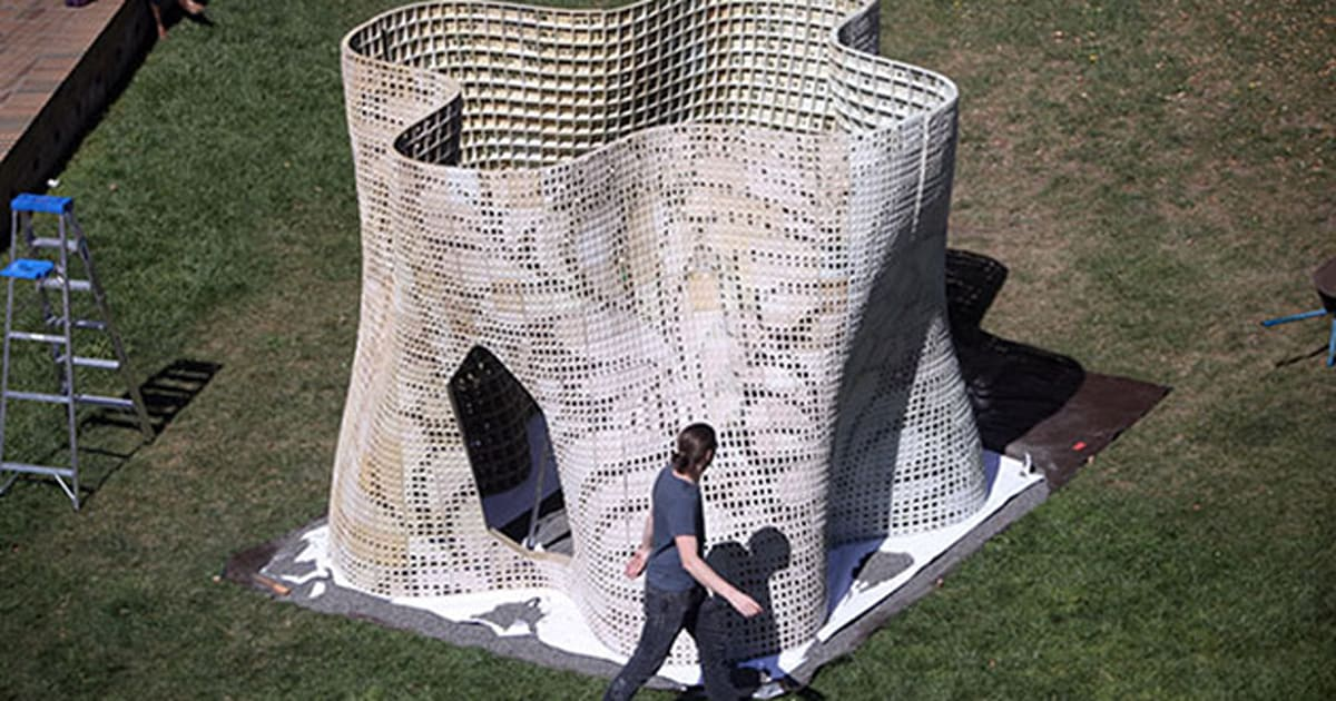 uc berkeley 3d prints an artsy pavilion using dry powdered. Black Bedroom Furniture Sets. Home Design Ideas