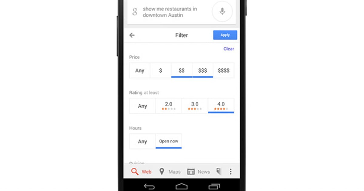 Android now lets you search for hotels and restaurants you