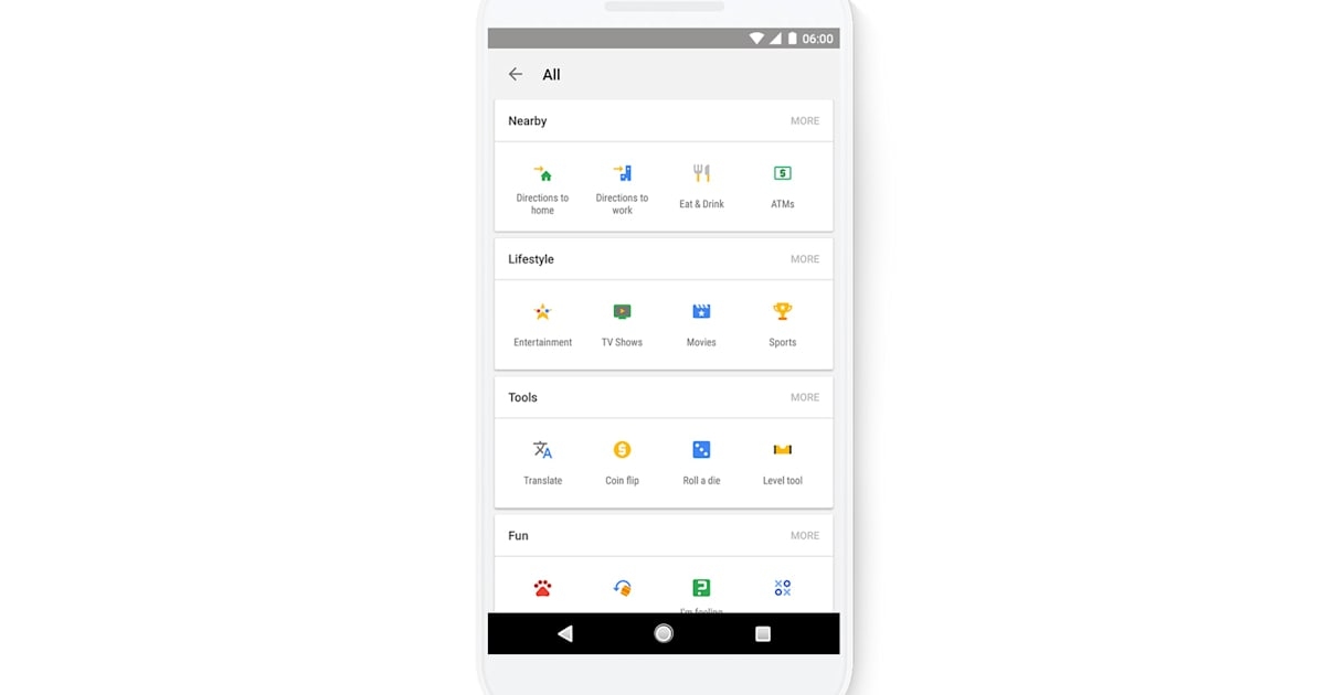 Google's search app now has shortcuts to its popular tools