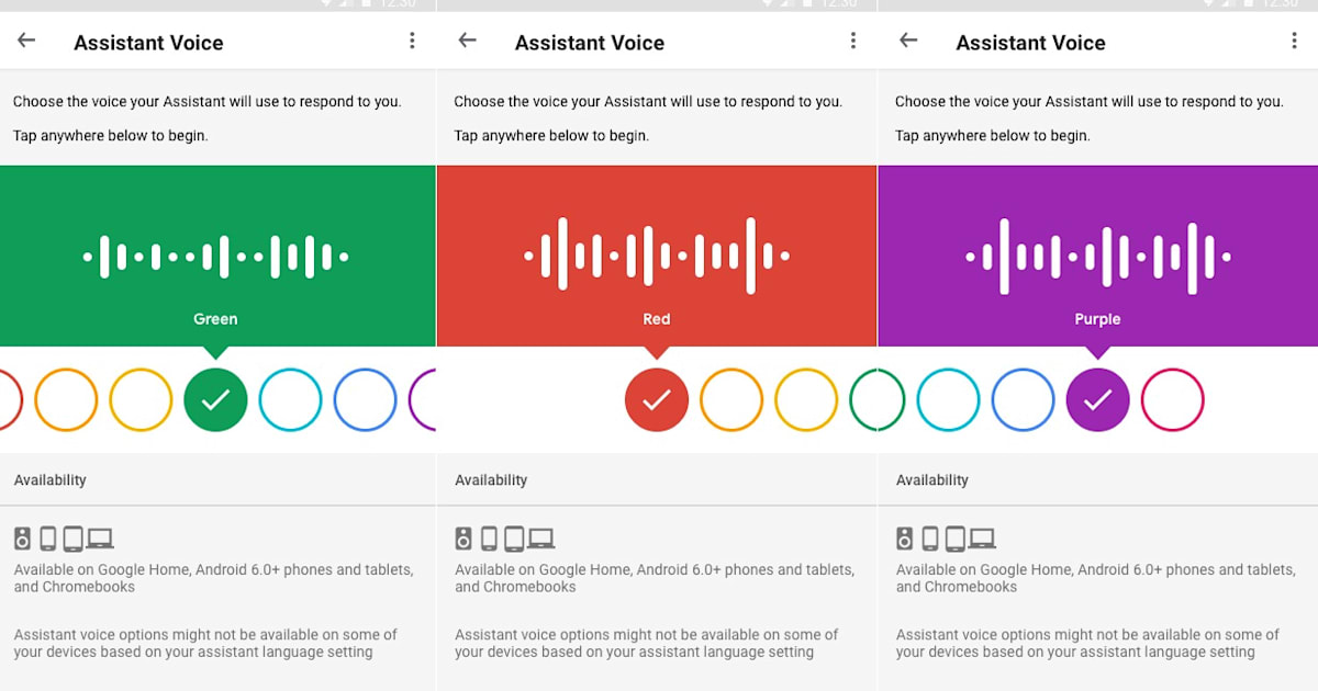 It's now easier to change Google Assistant's voice